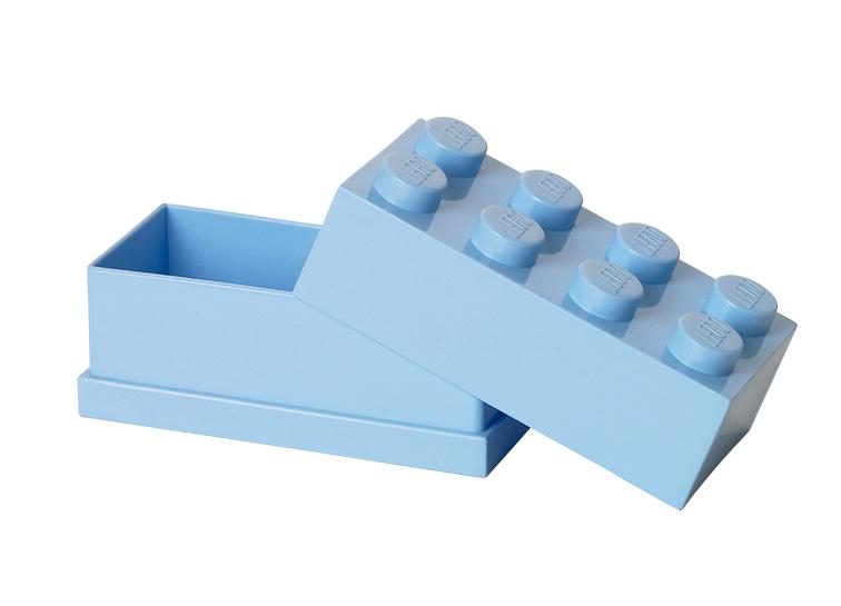 Mini cutie depozitare LEGO 2x4 albastru deschis