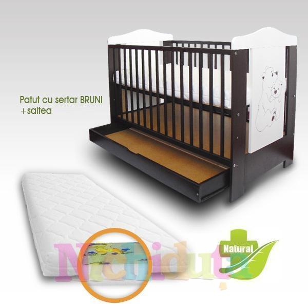 Imagine indisponibila pentru Patut copii Bruni cu sertar + Saltea Clasic