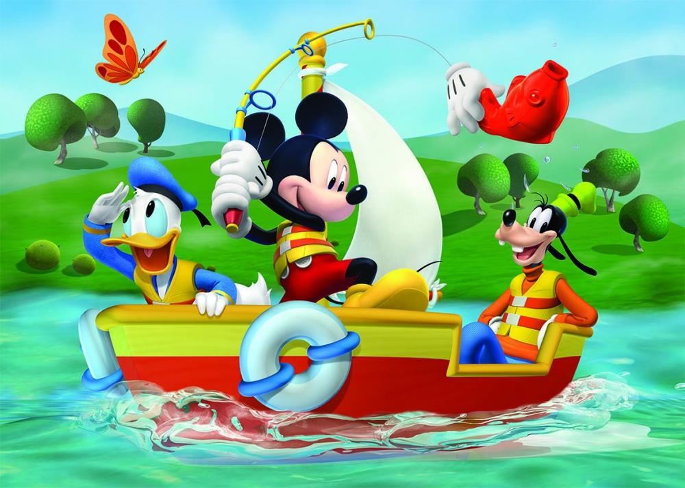 Puzzle de podea - Mickey Mouse la pescuit (24 piese)