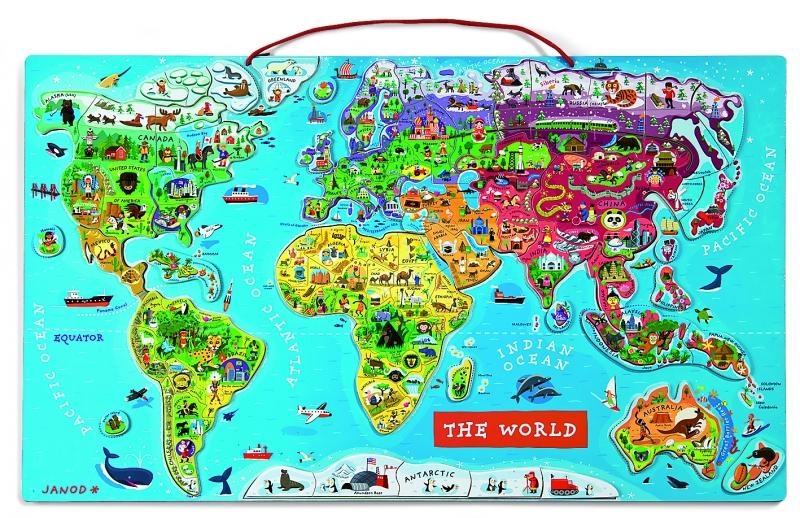 Puzzle magnetic harta lumii (Lb. engleza