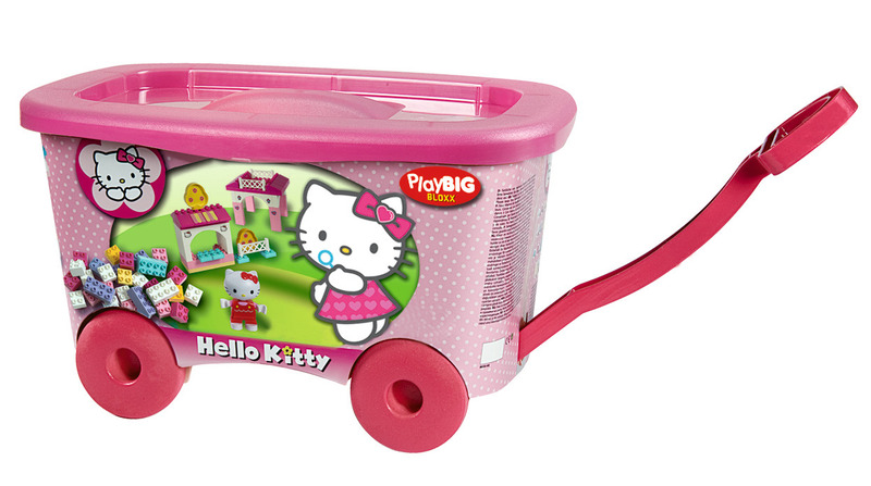 Roaba cu set 150 de cuburi Big Hello Kitty