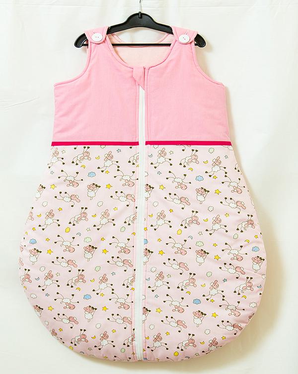 Sac de dormit vara Blanite roz cu ciclam 95 cm