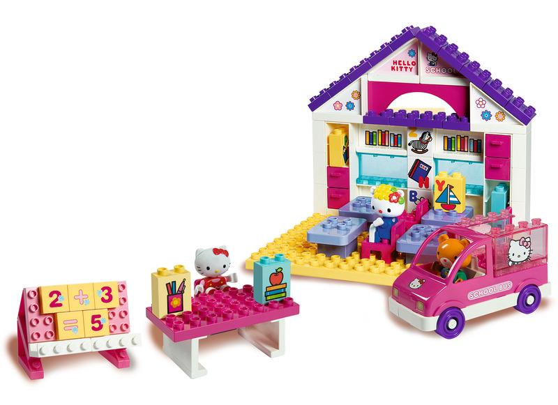 Scoala + Masina set 89 de cuburi Big Hello Kitty
