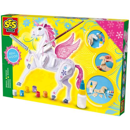 Set de Construit Unicorn din Lemn