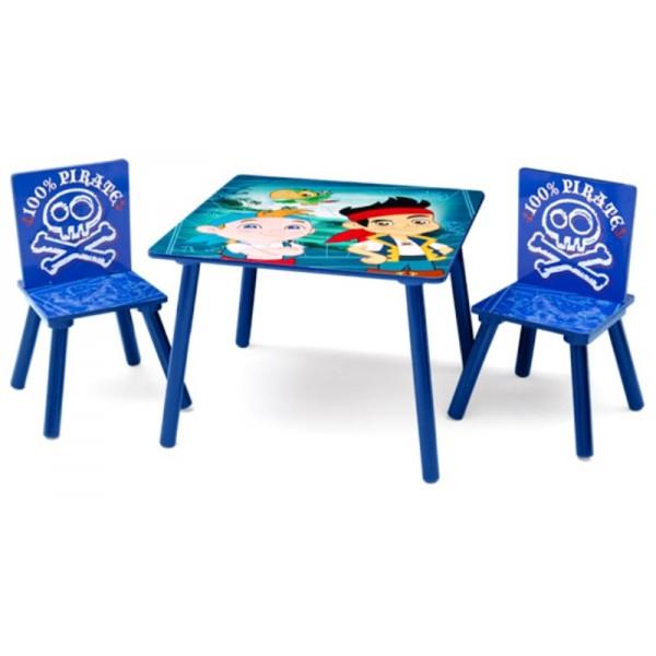 Set masuta si 2 scaunele Disney Jake si Piratii din Tara de Nicaieri