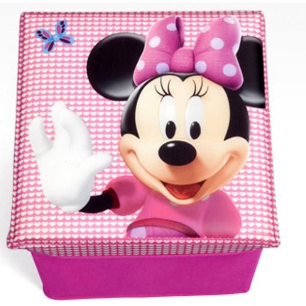 Taburet si cutie depozitare jucarii Disney Minnie Mouse