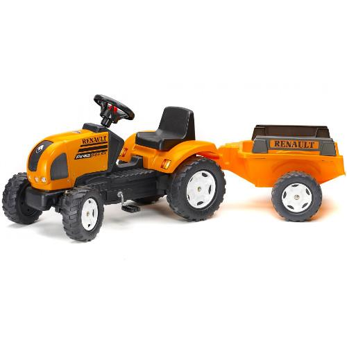 Tractor Renault Ares cu Remorca si Pedale imagine
