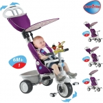 Tricicleta Smart Trike Recliner Stroller 4 in 1 Purple