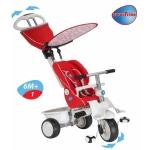 Tricicleta Smart Trike Recliner Stroller 4 in 1 Rosu