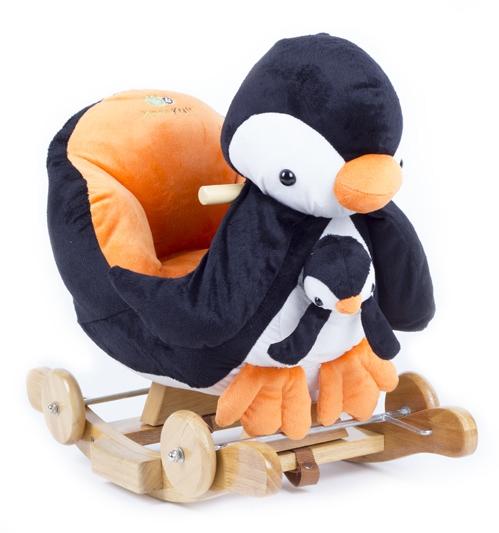 Balansoar cu roti 2 in 1 Pinguin cu sunete
