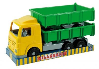 Camion plastic cu remorca