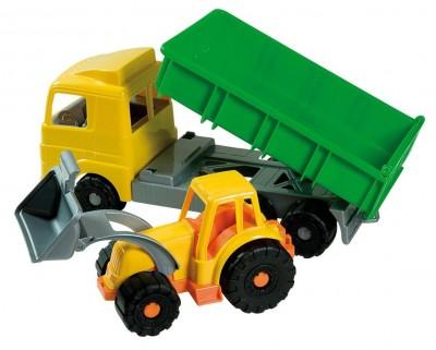 Camion plastic cu utilaj constructie 49 cm