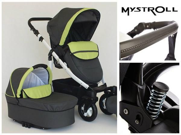 Carucioare copii Mystroll Fresh mint Premium design