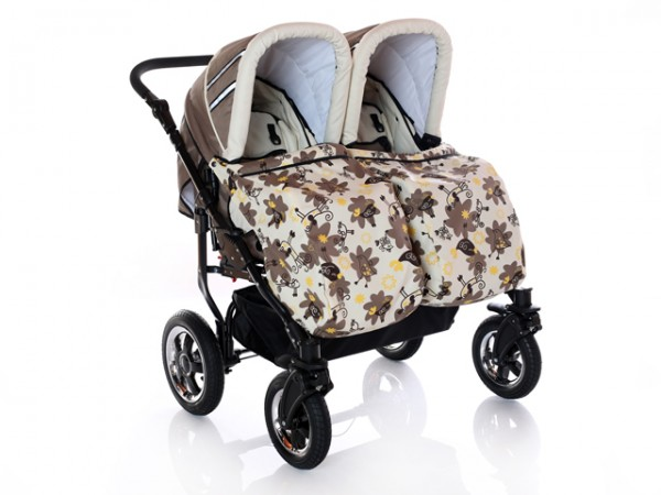 Carucioare gemeni 2 in 1 Mystroll Twins brown mix