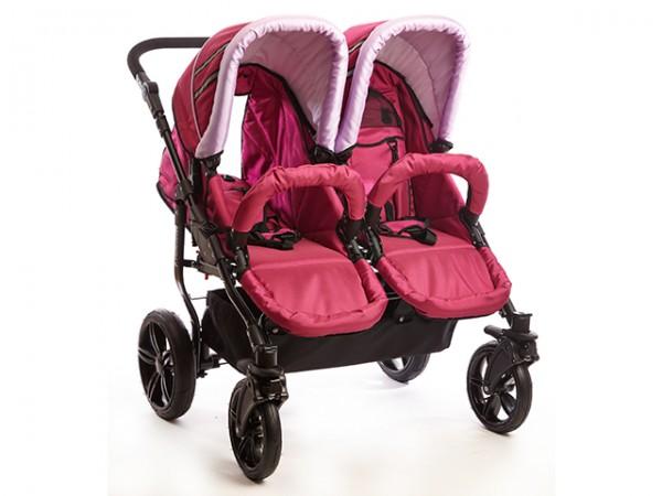 Carucioare gemeni sport Mystroll Twins 2014 Pinkberry