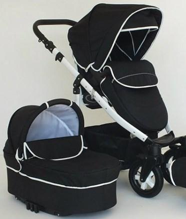Carucior 2 in 1 Mystroll Black Fine line, Premium design
