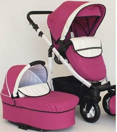 Carucior 2 in 1 Mystroll rosa elegante, premium design