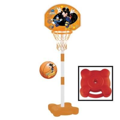 Cos de baschet cu minge pentru copii Mickey Mouse