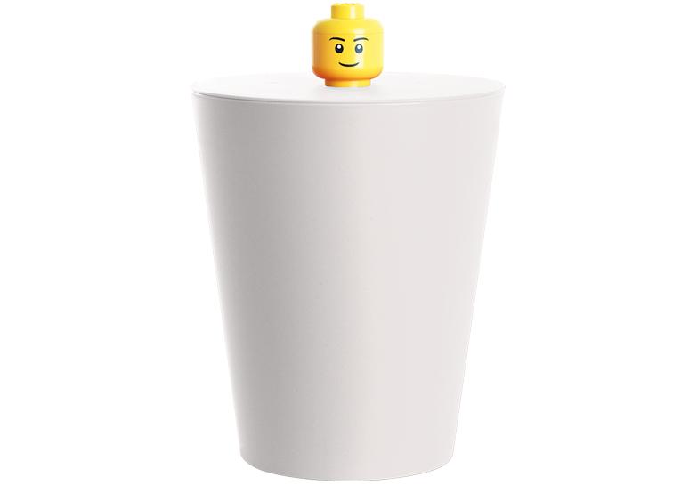 Cos multifunctional LEGO alb