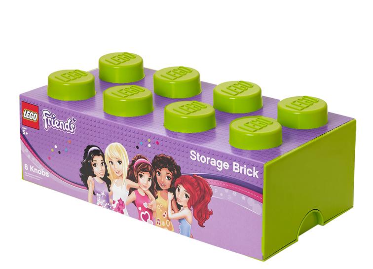 Cutie depozitare LEGO Friends 2x4 verde deschis