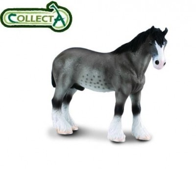 Figurina din plastic Cal Armasar Clydesdale Grullo