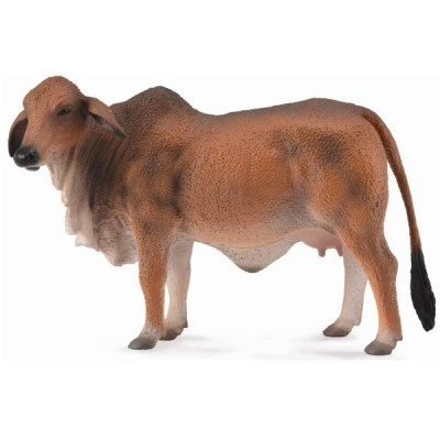 Figurina din plastic Vaca Brahman rosie