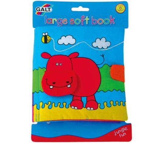 Jucarie bebelusi Large Soft Book Jungle Fun