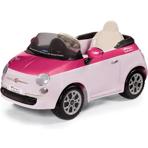 Masinuta electrica Fiat 500 Pink cu Telecomanda