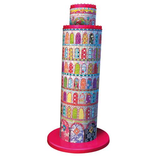 Puzzle 3D Turnul Din Pisa Colorat, 216 piese