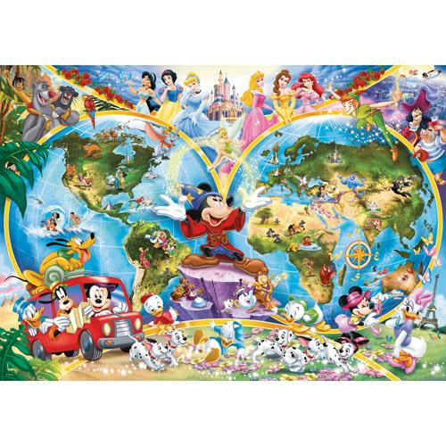 Puzzle Harta Lumii Disney, 1000 Piese