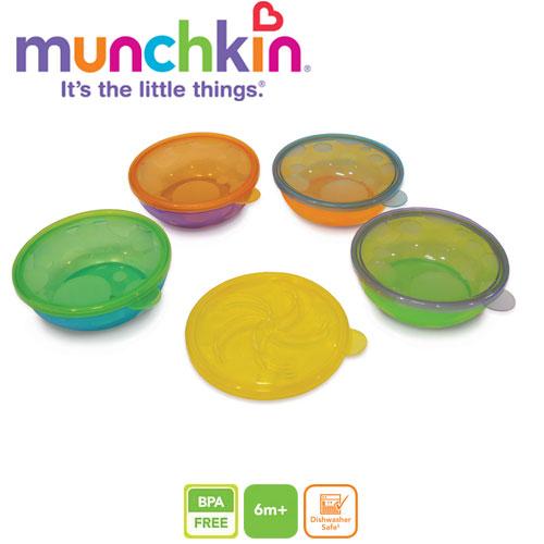 Set 4 castroane cu capac Munchkin
