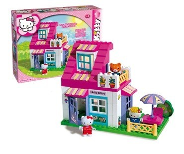 Set constructie Unico Plus Hello Kitty Casuta cu terasa