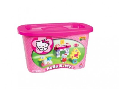 Set constructie Unico Plus Hello Kitty Galetusa 73 piese