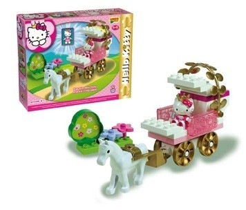 Set constructie Unico Plus Hello Kitty Trasura de printesa