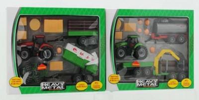 Set tractor cu accesorii sunete si lumini