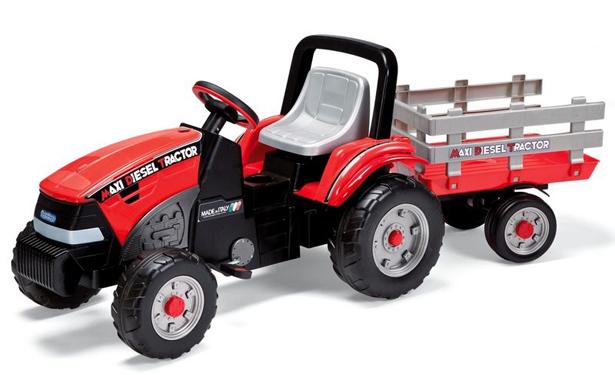 Tractor Maxi Diesel cu remorca Peg Perego
