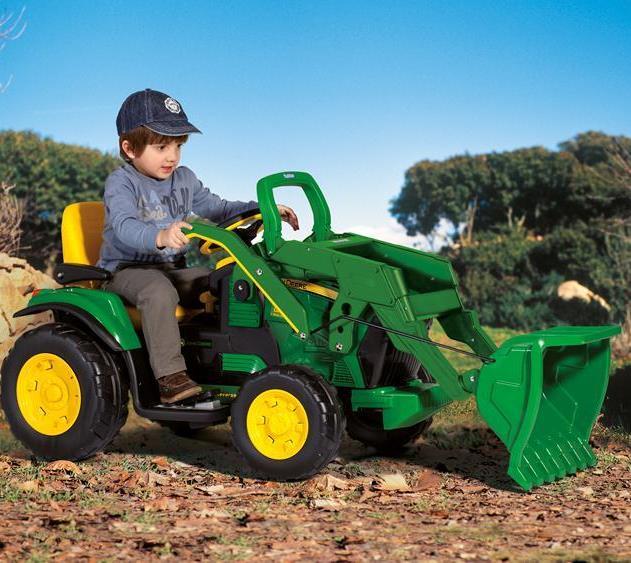 Tractor cu excavator John Deere Ground Loader Peg Perego - 8