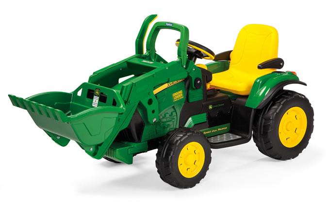 Tractor cu excavator John Deere Ground Loader Peg Perego - 1