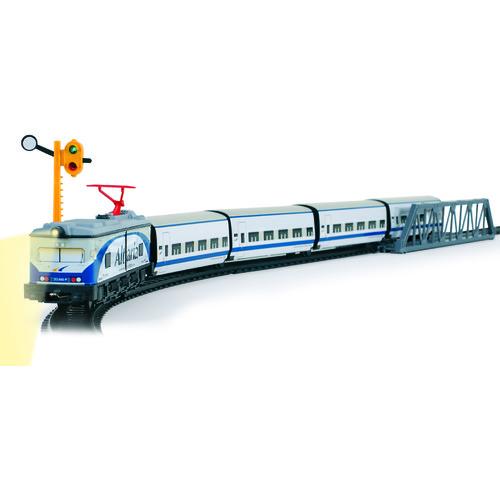 Trenulet copii pasageri cu gara Altaria