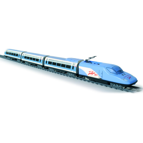 Trenulet copii pasageri cu gara Talgo