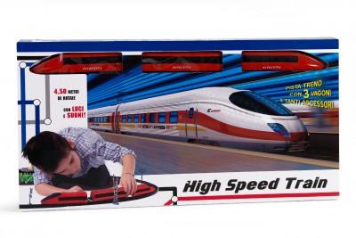 Trenulet electric cu lumina si sunete 4.5 metri