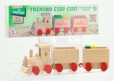 Trenulet lemn cu cuburi