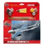 Kit constructie si pictura avion De Havilland Vampire T11