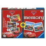 Puzzle Memory Disney Cars, 3 Buc In Cutie 15/20/25 Piese