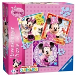 Puzzle Minnie Mouse, 3 Buc In Cutie, 25/36/49 Piese
