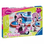 Puzzle Minnie Mouse In Parc, 3x49 Piese