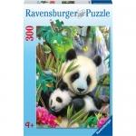 Puzzle Ursi Panda, 300 Piese