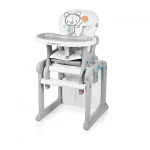 Scaun de masa multifunctional 2 in 1 Baby Design Candy White