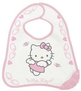 Baveta Hello Kitty cu inel dentie