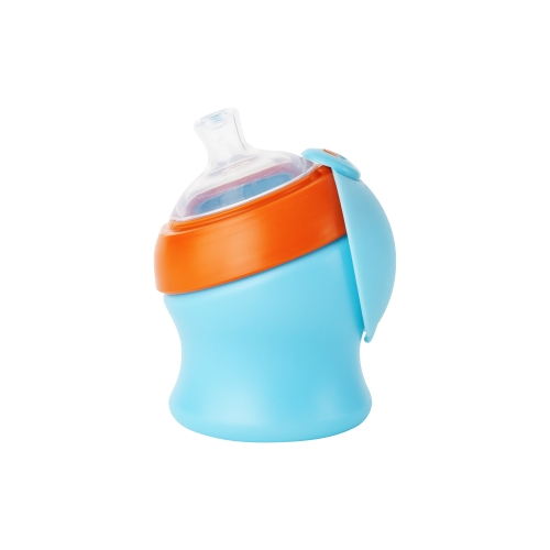 Biberon 207 ml portocaliualbastru
